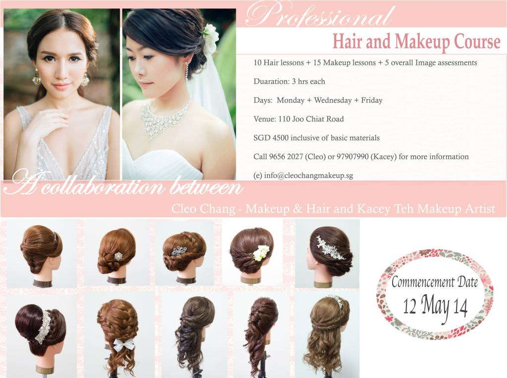 hair styling course singapore professional hair makeup course cleo chang bridal 7425